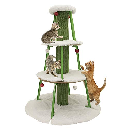 Kitty City Large Cat Tunnel Bed, Cat Bed, Pop Up bed, Cat Toys, Christmas Tree, Large Tree