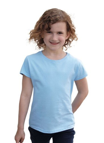 Fruit of the Loom Fruit of the Loom Mädchen T-Shirt blau hellblau 3 Jahre
