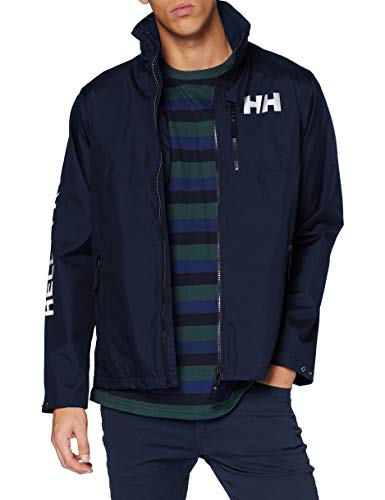 Helly-Hansen Mens Active Hooded Waterproof Breathable Midlayer Jacket, 597 Navy, X-Large
