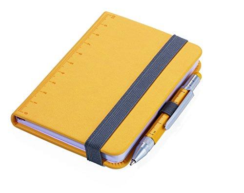 TROIKA NPP25/YE Giallo A7 128 fogli – Quaderno con 128 fogli, giallo, Monocromatico, A7, Ecopelle, 1 tasche.