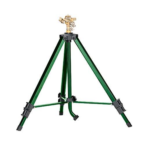 Orbit 58308Z Brass Impact Sprinkler on Tripod Base, Green