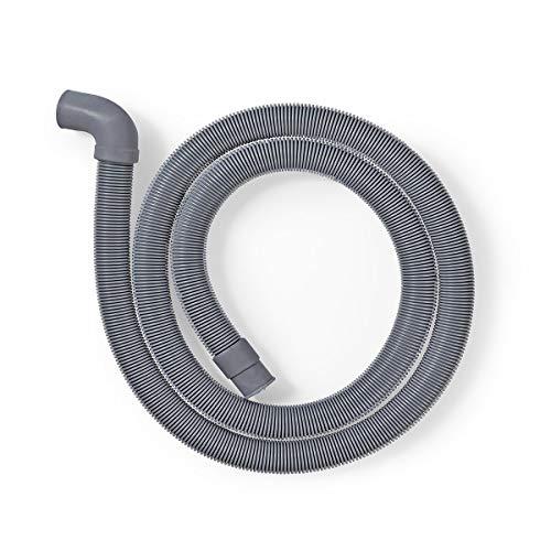 TronicXL Profi Ablaufschlauch Auslassschlauch zb für AEG Miele Siemens Bosch Neff 22mm gewinkelt – 19mm gerade 0,5 bar 60° C 1,5 m Spülmaschine Waschmaschine Geschirrspüler Schlauch Anschluss