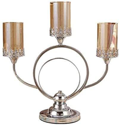 GPFFACAI candelabro Supporti in Acciaio Inox Nordic Home Decor Candelieri Bugia (Color : Stainless Steel Nord)