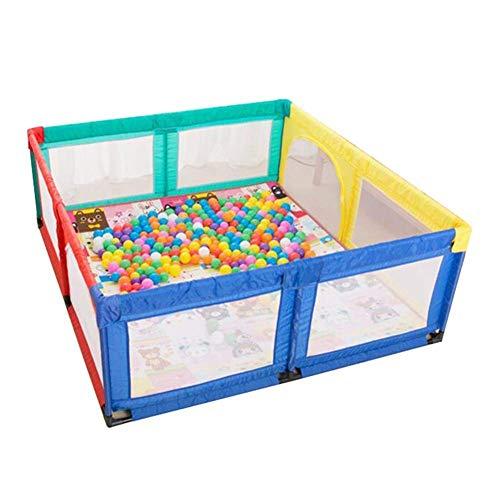 LXDDP Parc sécurité très Haut pour bébé avec barrière Protection Anti-Collision et Anti-Renversement pour Enfants, Jeu Balle, Tapis Jeu Ocean Ball & Crawling, 180 × 190 cm