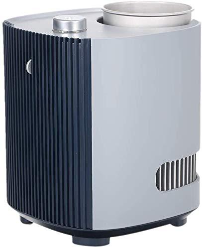 Stella Fella Ventilador 3 en 1 y taza de bebidas frías y calientes multifuncionales para bebidas de enfriamiento rápido/calefacción (tamaño: gris+enchufe del Reino Unido)