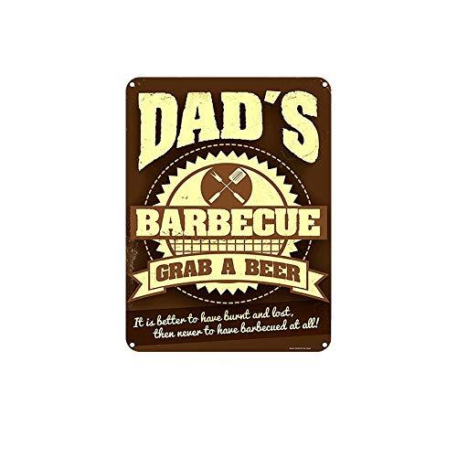 SKYNINE INC Vintage Metalen borden, Papa's BBQ Pak een Bier 20 x 30cm, Wanddecoratie Tin Tekens Voor Lounge/Bar/Bar/Huiskeuken/Restaurant/Slaapkamer/Garage/Man Grot/Gas Station.