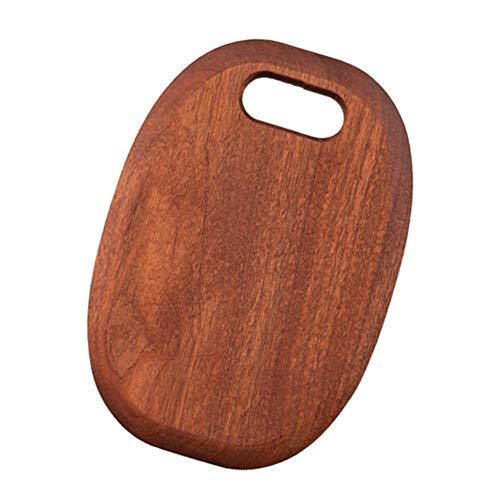 Tabla de cortar de madera Tabla de cortar de frutas gruesas Tabla de cortar doméstica para cocina (30x20x2.5)
