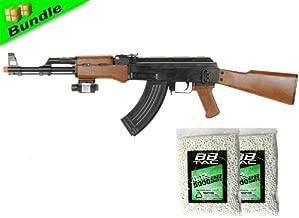 bbtac p1147 ak47 airsoft gun package w/ 10,000 bbs, tactical red dot light airsoft spring rifle, with bbtac warranty(Airsoft Gun)