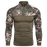 Camicie e T-Shirt Sportive da Uomo, Fitness T-Shirt Maglia Compressione Uomo Maniche Lungo Asciugatura Rapida Maglia da Sport per Corsa, Palestra