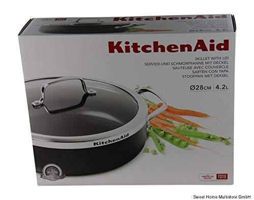 KitchenAid Servier- und Schmorpfanne mit Deckel ø 28cm statt 139,99 EUR
