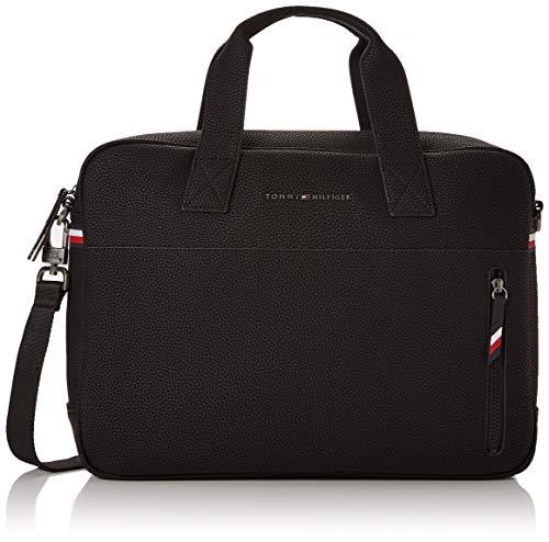 Tommy Hilfiger Herren Essential Computer Bag Laptop Tasche, Schwarz (Black), 30x40x9cm