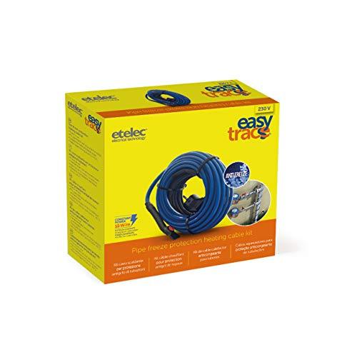 Etelec Kit verwarmingskabel Easytrace prestaties constante bescherming tegen slangen, tank met stroomkabel en thermostaat EASY08 - Lunghezza 8 Metri - Potenza 117W