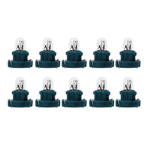 Starnearby 10 bombillas T3 LED de 12 V para coche