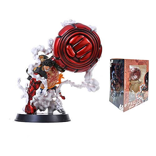STKCST One Piece Figure One Piece 4 Block Big Hand Luffy 25cm GK Wano Country King of The Ape Gun Anime Decoration Gift