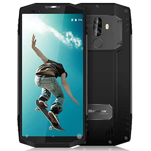 Oferta móvil, Blackview BV9000 Pro teléfonos Android 7.1 Smartphone ip68 con 5.7 pulgadas (relación 18: 9) Pantalla completa, 6GB RAM 128GB ROM y la cámara 13MP + 5MP / 8MP SONY dual y la batería 4180mAh, ID NFC / GPS / Face ID / huella digital, gris