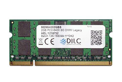 DILC RAM Sodimm DDR2 2GB 800Mhz PC2-6400 (200 Pin) Memoria Notebook Portatile
