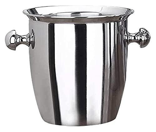 Cubo de Hielo de Acero Inoxidable Vino Champagne Champagne Chiller Hielo Barrel (Tamaño: 5L) Yuechuang (Size : 5L)