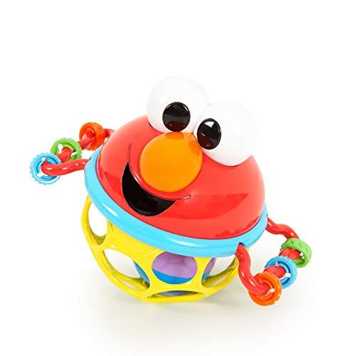 Bright Starts, Sesamstrasse, Oball Rassel Elmo - Flexibles und Leichtgreifbares Design, für Kinder Jeden Alters