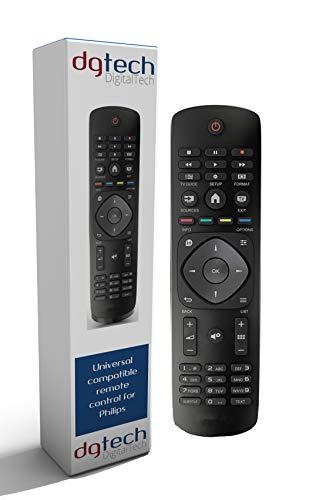 DigitalTech - Mando Universal para televisores Philips. Compatible con más de 250 mandos Philips.