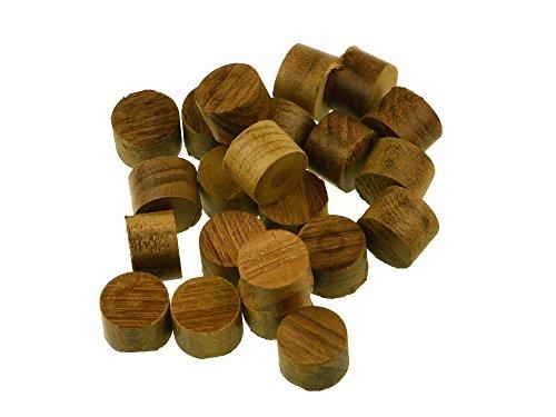 Whitecap Teak Holzstopfen für Boote, 2,5 cm, 20 Stück