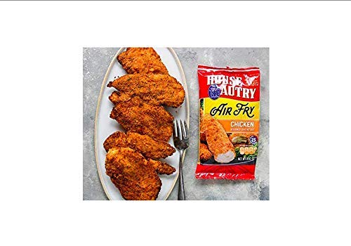 House-Autry Air Fry Seasoned Chicken Coating Mix, 8 Ounce, Pack of 3
