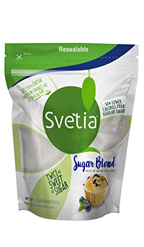 SVETIA SUGAR BLEND with Stevia Extract,1.5 Lb
