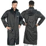 TJ MARVIN TRENCH E05 - Protector de lluvia con capucha y cubrepiernas, color negro M Negro