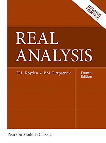 Real Analysis (Classic Version) (Pearson Modern Classics for Advanced Mathematics Series)