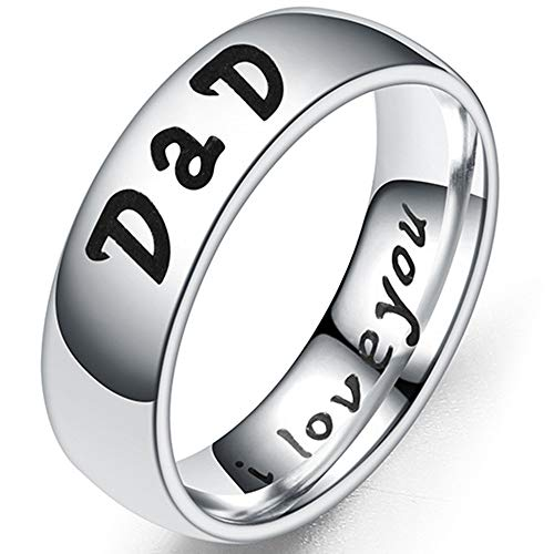 Jude Jewelers 6mm Stainless Steel Mom Son Daughter Wedding Band Classic Ring (Dad, 13)