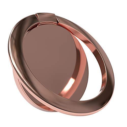 EAZY CASE Premium Smartphone Ring Fingerhalterung, 360° Drehbar, für vereinfachte Einhandbedienung, Handy Halterung, Smartphonehalter, Finger Halterung, Rosé-Gold