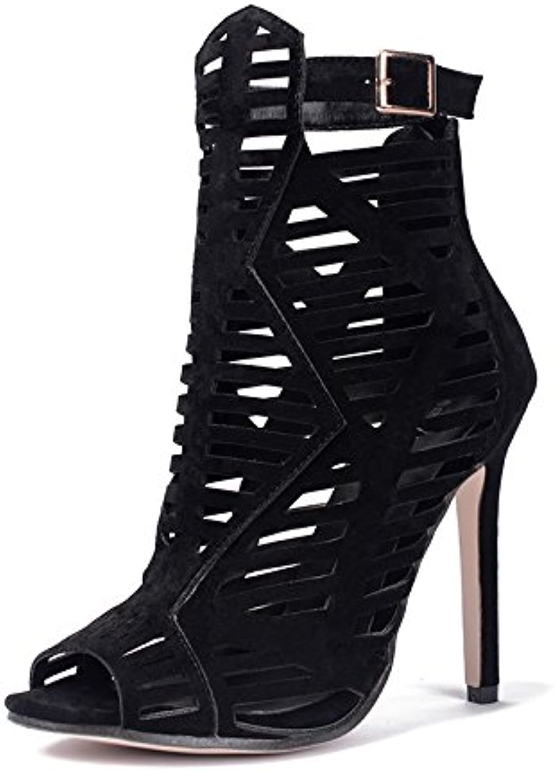 Women's spring new high heels exposed fine with roman shoes slotted tie fish mouth sandals