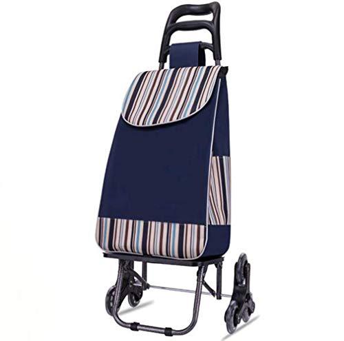 Carro portátil multiusos para la compra de Shopping con ruedas de cristal triangular, 50 kg de capacidad (color: A)
