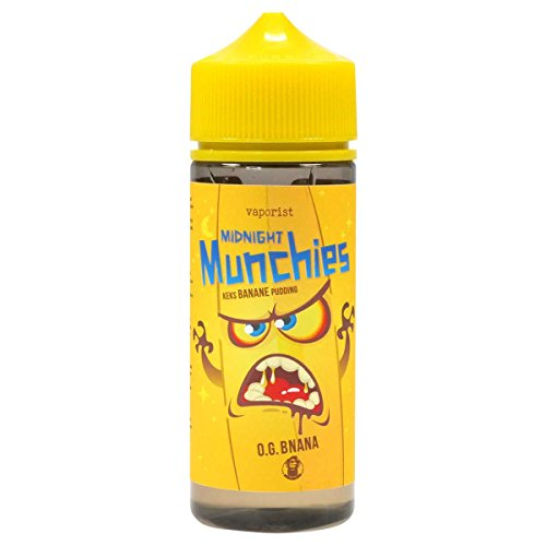 Vaporist e-Liquid Midnight Munchies O. G. Banana, Juice für Ihre e-Zigarette, 0.0 mg Nikotin, 100 ml