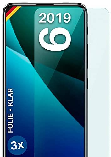 moex Klare Schutzfolie kompatibel mit Asus Zenfone 6 (2019) - Bildschirmfolie kristallklar, HD Bildschirmschutz, dünne Kratzfeste Folie, 3X Stück