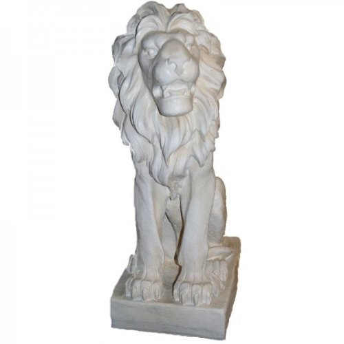 Grand lion de style antique blanc droite env. 75 cm