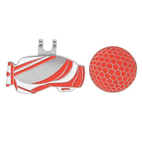 SALUTUYA Herramienta de Marcado de Pelotas de Golf livianas de Alta Resistencia, portátil, para Practicar Golf(Red)