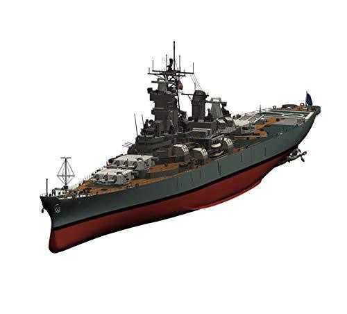 X-Toy Militar Battleship Puzzle Kits, 1/700 Escala De La Segunda Guerra Mundial Los Estados Unidos Clase Iowa Modelo, Juguetes para Niños