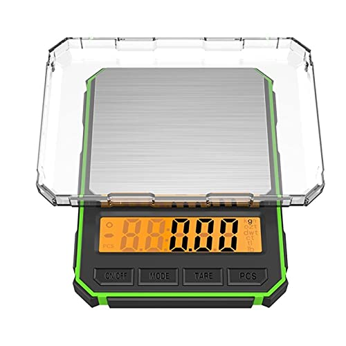 JSJJAUJ Corporal Báscula 500 * 0.01g Escalas de Cocina de Alta precisión Pantalla Digital de Alta precisión Cocina eléctrica Cocina Pesaje de Alimentos (Color : A1)