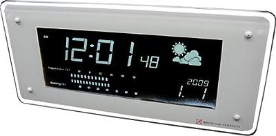 HOUSE USE PRODUCTS(ハウスユーズプロダクツ) LCD表示 電波置き掛け時計 LCD-RADIO-CLOCK FUZE WHITE ACL070 [正規代理店品]