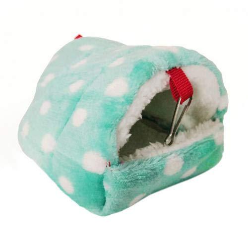 CBVG Mini Hamster Igel Warmes Meerschweinchen Warmes Schlafnest Kleintier Haustierbett Haus, Hellgrün, XL