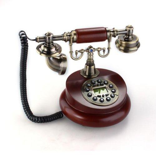Telefono Fisso Antico Vintage Ottone Bruno Scuro per Casa