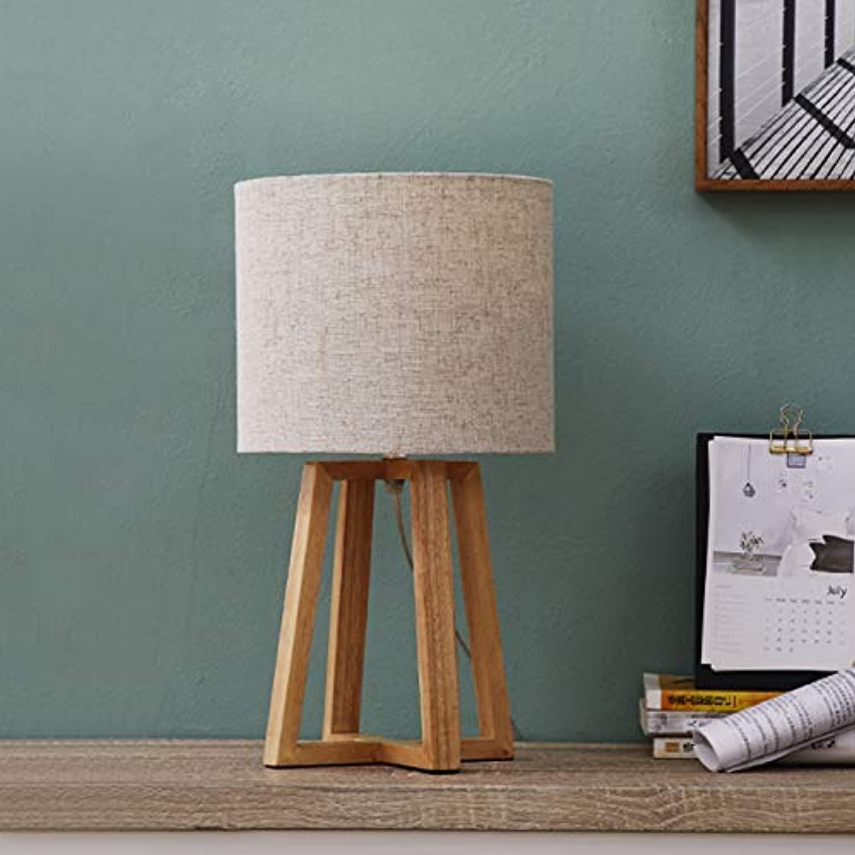 Japanese Tea Room Solid Wood Table Lamp Tatami Zen Wooden Homestay Simple Warm Bedroom Bedside Lamp Nordic