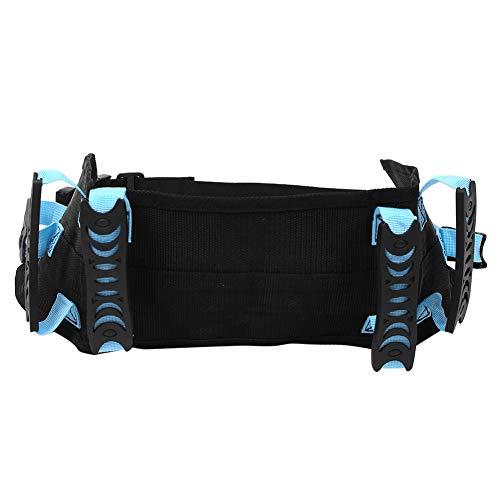 Práctico cinturón de transferencia móvil para caminar, cinturón de tracción de cintura, cómodo para discapacitados en el hogar al aire libre para ancianos