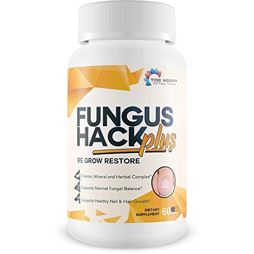 Fungus Hack Plus Re Grow Restore - Toenail Fungus Treatment - Restore Healthy Nail, Skin, and Hair Growth - Help Your Nail Renew and Restore with This Nail Renewal biotin Supplement Nail Growth Pills