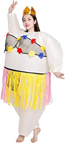 TBBE Disfraz de bailarina inflable para ballet, cosplay, disfraz de Halloween, baile hawaiano, para adultos (altura de 150 a 190 cm)