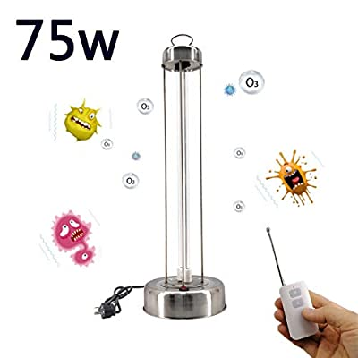 Fxwj UV Sterilizer Light Germicidal Lamp Disinfection Light Lights Sterilization 75W for Kitchen Bedroom Toilet and Living Room