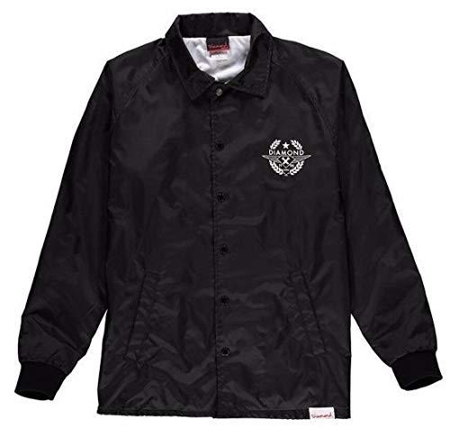 Diamond Supply Co. Shime Crest Coach's Black White Windbreaker Men's Jacket