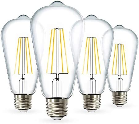 Sunco Lighting 4 Pack ST64 LED Bulb Dimmable Waterproof 8 5W 60W 3000K Warm White Vintage Edison product image