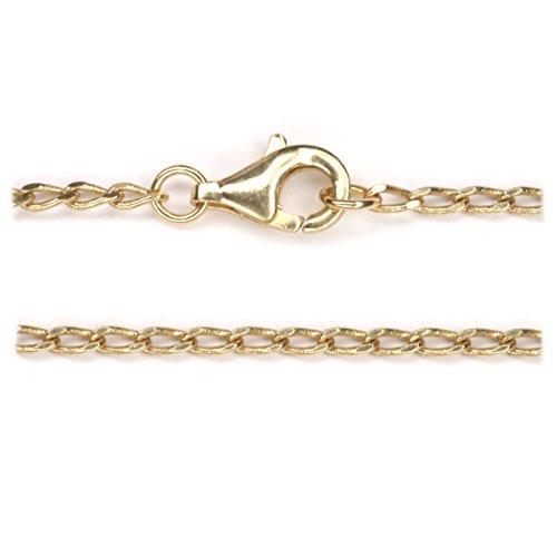 Kette Bronze 50cm lang, mit hochwertigem Karabinerverschluss, mittelalterliche Halskette
