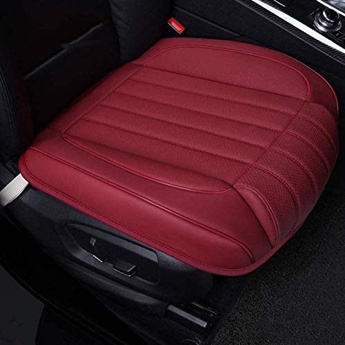 ZQTHL Car Seat Cover Cushion, Auto Bottom Front Driver & Passenger Seat Protector Pad with Leg Support Pillow /3D Edge Wrapping,for Most Vehicle,C,1PC
